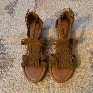 Minnetonka Shoes - Minnetonka suede sandals w/ fringe. Worn once!